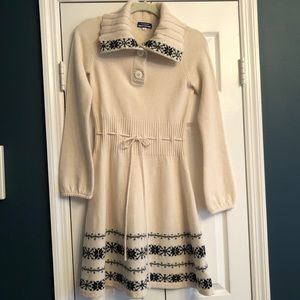 Burberry Cream Sweater Dress Sz 38